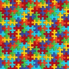 Colorful Puzzle Pieces Wallpaper Background The Color