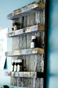 Essential Oil Storage// Reclaimed Wood// by FernwehReclaimedWood