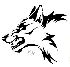 Image result for wolf head drawing