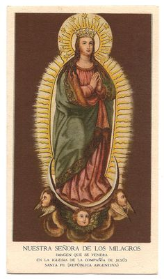 Nuestra Senora de los Milagros, Our Lady of the Miracles Antique Vintage Spanish…