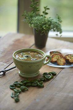 Myra's Best | fiddle head soup / Montana creative food stylist