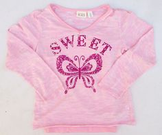 The Children's Place Girls Pink Tie Dye Sweet Butterfly Studded Shirt Sz 5/6 NWT #TheChildrensPlace #Dressy
