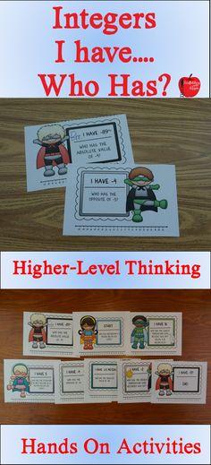 Integer Activities with dice | For School | Pinterest | Activities ...