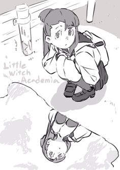 little witch academia Dark Art Drawings, Anime Drawings Sketches, Cool Drawings, Manga Illustration, Character Illustration, Character Inspiration, Character Design, My Little Witch Academia, Little Witch Academy