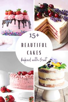 Everyday Party Magazine is sharing 15 beautiful cakes baked with fruit. These cakes are perfect for spring and summer celebrations or Sunday desserts! #EverydayPartyMagazineRecipes #Cakes #RecipeRoundUp