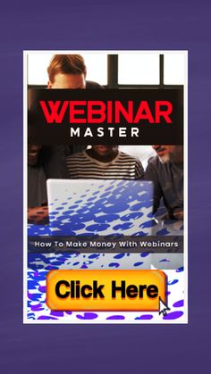 Webinar Mastery Training Guide (Ebook) and more + MRR (Master Resale Rights). To successfully make money from webinars you have to know what works and what doesn't. A lot of marketers make big mistakes with their webinars and do not get the results that they want. This guide will explain everything that you need to know about planning, promoting and running successful webinars. #webinar #zoom #gotowebinar #marketing #sales #onlinemarketing #internetmarketing #affiliatemarketing Marketing Tools, Internet Marketing, Online Marketing, What Works, Affiliate Marketing, Mistakes, Need To Know, Online Courses, How To Make Money