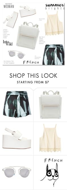 """""""Jeffrey Campbell Carnie Leather Sandals"""" by fleur-353 ❤ liked on Polyvore featuring Ann Demeulemeester, Jeffrey Campbell, Christian Dior, House by John Lewis and Anja"""