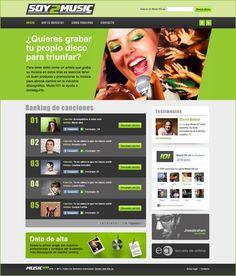 Diseño web para Soy2music