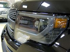 Black Ford F-150 front grille