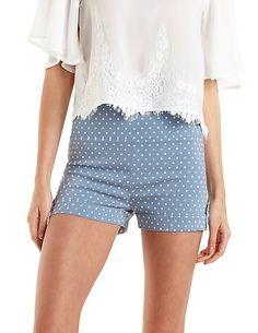 High-Waisted Polka Dot Shorts: Charlotte Russe
