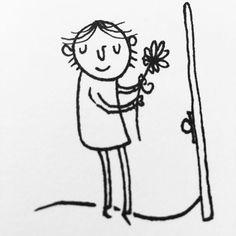 #drawing #illustration #sketch #sketchbook #comic #flower #spirit Bee Drawing, Sketch, Spirit, Comics, Drawings, Illustration, Flowers, Fictional Characters, Art