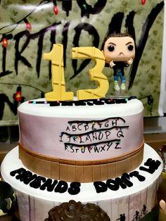 Can I have this cake plz! 13 Birthday Cake, 13th Birthday Parties, Finn Stranger Things, Dream Cake, Pumas, Love Cake, Amazing Cakes, Birthdays, Change