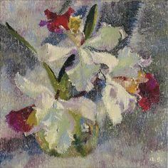 Augusto Giacometti (1877-1947) Orchideen II, 1935 (40 x 40 cm)