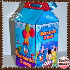 Caixinha Milk Galinha Pintadinha | Studio Planet Personalizados | Elo7