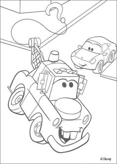the tow truck mater coloring sheet free online - Monster Truck Mater Coloring Page