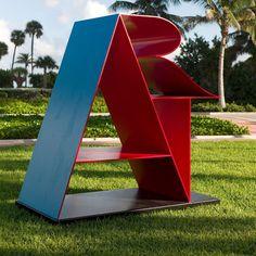 Robert Indiana Art Landscaping Equipment, Monument Signs, Modern Pop Art, Wayfinding Signage, Environmental Graphics, Installation Art, Wrought Iron, Sculpture Art, Indiana