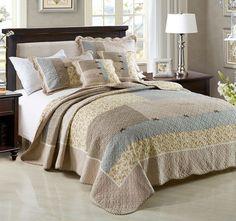 Vineyard Daydream Queen to King Bed Coverlet Set Range - Shop
