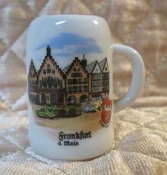 Frankfurt a. Main Germany Miniature Stein with Handle, Shot Glass Size