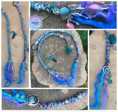 Unicorn inspired dreadwrap set of 2 featuring blue, turquoise and purples! Turquoise And Purple, Turquoise Jewelry, Synthetic Dreads, Festival Hair, Pastel Goth, Braided Hairstyles, Lilac, Unicorn, Colours