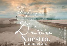 1 Samuel 2:2 No hay santo como Jehová; Porque no hay ninguno fuera de ti, y no hay refugio como el Dios nuestro.♔