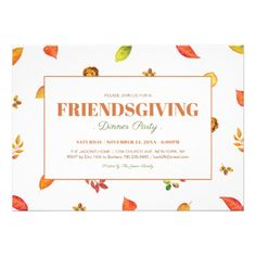 Thanksgiving Invitation Thanksgiving Dinner By Bradfordroaddesigns