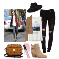 Harry girl (date w/ Harry) by sudachikotarou on Polyvore featuring polyvore, fashion, style, Uniqlo, Maje, True Religion, Witchery, MCM, ADORNIA, By Malene Birger, Armani Beauty and Charlotte Tilbury