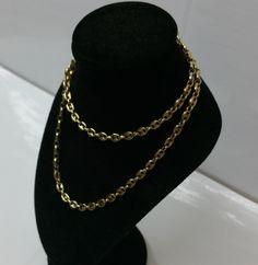 Vintage Halsschmuck - 50 cm/4,3 mm Bohnen-Halskette 925 vergoldet HK192 - ein Designerstück von Atelier-Regina bei DaWanda