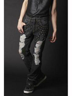 Land of Dead Denim Pants Black. See more at: http://www.cdjapan.co.jp/apparel/juryblack.html #punk #jrock