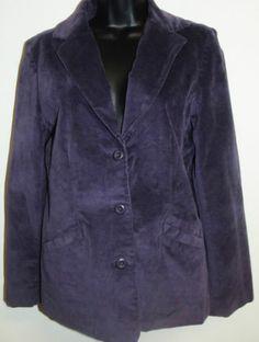 L.L. #Bean Women's #Purple #Velvet Blazer Jacket EUC Size 6 Regular.