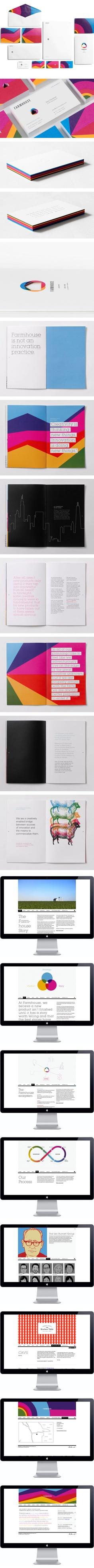 Bright and colorful identity: Farmhouse identity Corporate Design, Corporate Identity, Identity Design, Visual Identity, Brand Identity, Web Design, Logo Design, Brand Guidelines, Graphic Design Inspiration