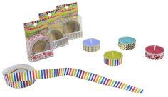 vela con cinta adhesiva decorativa / velas de colores
