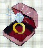 Anello di fidanzamento - punto croce - cross Stitch - Kreuzstich - Punto de Cruz