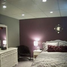 purple and gray bedroom thinking this maybe Brooklyn's room colors