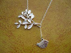 bird/tree necklace
