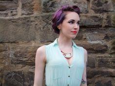 Runaway Fox - Lady Grey Necklace, £25.00 (http://www.runawayfox.co.uk/lady-grey-necklace/) Scottish Fashion Design