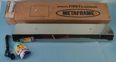New Old Stock Metaframe Aquarium Hood Light Original Box 1964