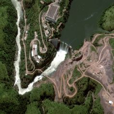 Cuanza River, Angola, April 28, 2013 %u2014 Cambambe Dam. DigitalGlobe's annual Top Image of the Year contest showcases satellite images of natural disasters, political issues, natural wonders and current events from 2013. First round voting on Facebook closes Dec. 16.