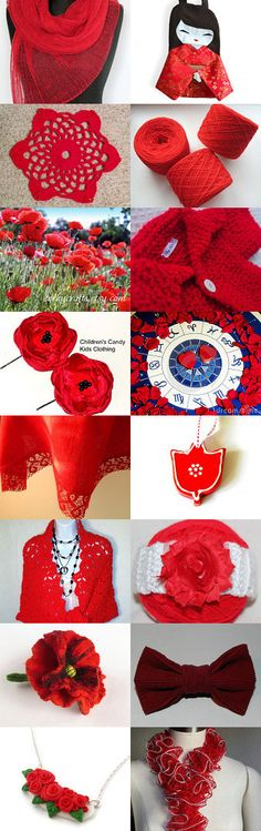 Red is beautiful ! by Nathalie on Etsy--Pinned with TreasuryPin.com
