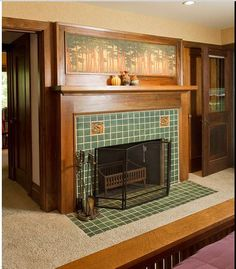 I Love The Frieze Above The Mantel. Craftsman Fireplace