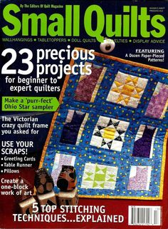 2004 Spring/Summer #13 Quilt Magazine Small Quilts 23 Projects #Q61
