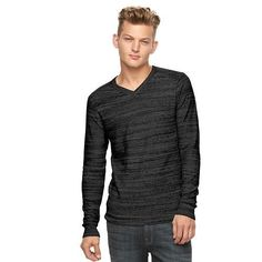 NEW Men's Rock & Republic V-Neck Sweater Charcoal Size Large MSRP $50 NWT Bin 11 #RockRepublic #VNeck