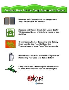 "New Product Version Up: ""Okapi Bluetooth tSense"" -Get creative! #heating #insulation #greenhouses #botany #brew #pets Check out our Major Update!"