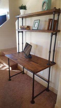 Adorable 44 Creative DIY Pipe Shelves Design Ideas https://lovelyving.com/2017/09/17/44-creative-diy-pipe-shelves-design-ideas/