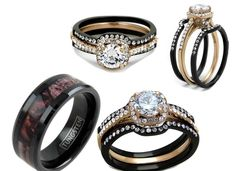 Beautiful His And Her Wedding Ring Set