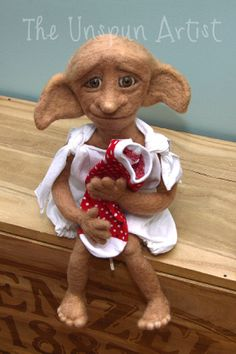 Needle Felted Dobby  Art doll by UnspunArtist on Etsy, $250.00