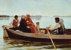 Albert Edelfelt - Going to the christening 1880