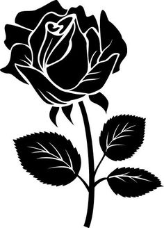 Use this as part of our logo! Vogel Silhouette, Silhouette Design, Silhouette Cameo, Flower Silhouette, Rose Stencil, Stencil Art, Stencil Patterns, Embroidery Patterns, Stencil Templates