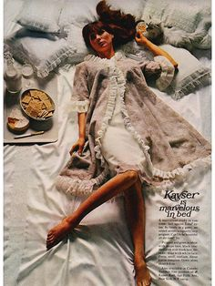 Vintage 1960s Kayser Nightgown - is marvelous in bed!