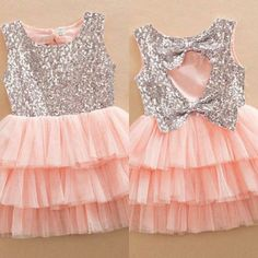 """"""" Baby girls sequined bow for Kids and party dresses🥳 are designed feature are round neckline, back with and tiered mesh.🥰 it's the parties, events and that never come with seasons. A platform Baby Girl Frocks, Baby Girl Party Dresses, Frocks For Girls, Frocks For Babies, Little Girl Outfits, Little Girl Dresses, Kids Outfits, Baby Birthday Dress, Frock Patterns"""