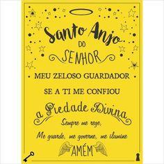 Placa Decorativa Santo Anjo - Papel de Parede e Adesivos Decorativos - AdsiveShop